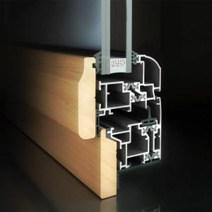 Aluminium-wood systems